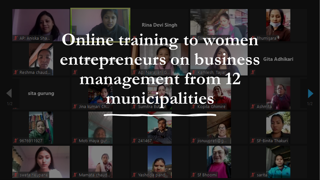 Training to Women Entrepreneurs on Business Management from 12 Municipalities